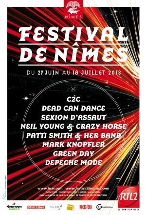 FESTIVAL DE NIMES 29 juin-18 juillet 2013 Depeche Mode, Green Day, C2C, Sexion d'assaut…