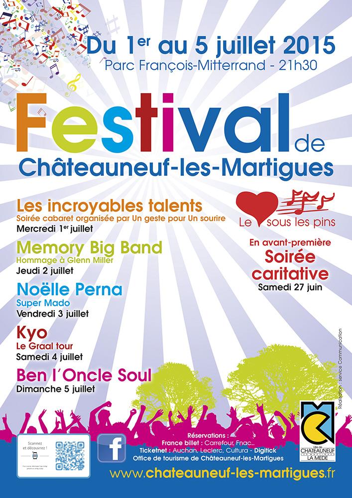 FESTIVAL DE CHATEAUNEUF LES MARTIGUES 1-5 juillet 2015