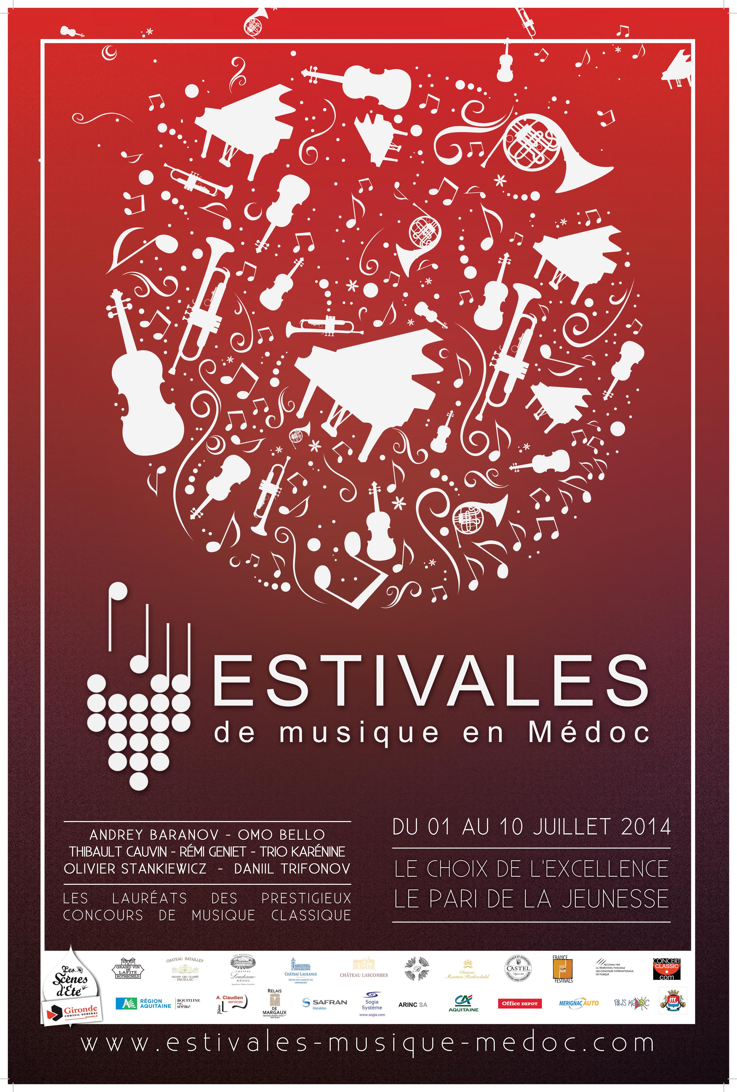 Estivales de musique en Médoc du 1er au 10 juillet 2015