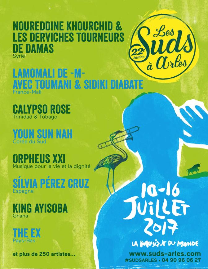Les Suds à Arles du 10 au 16 juillet 2017